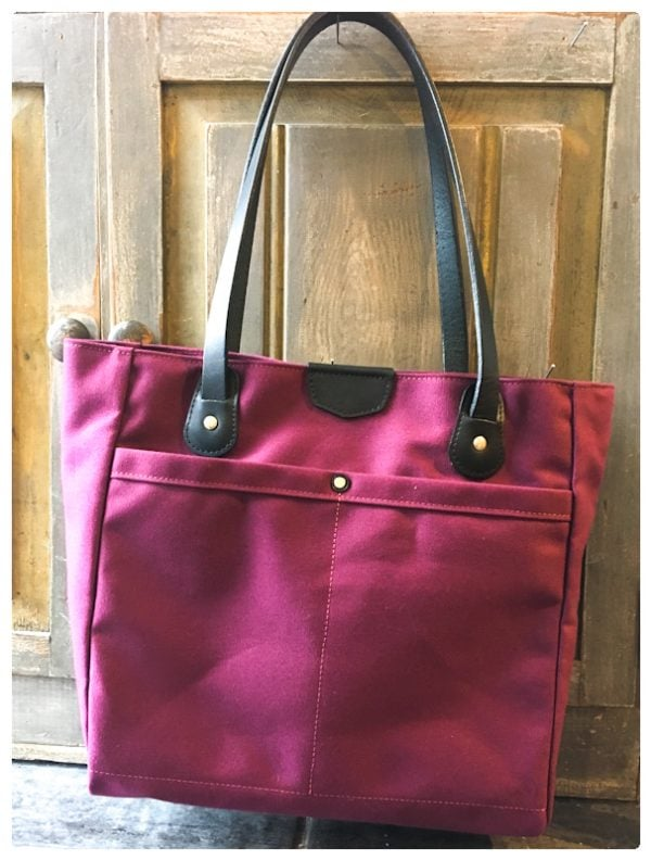 The Wellington Tote – Eggplant