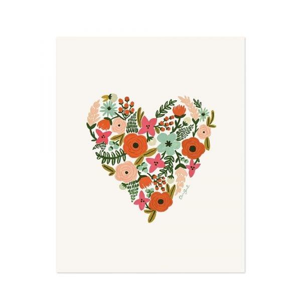 Rifle Floral Heart Print