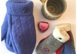 Upcycled, Canadian-made Mittens $40